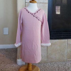Janie & Jack Lamb's Wool Angora Cashmere Dress